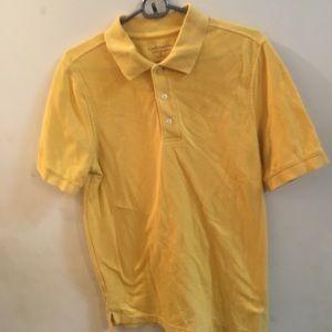 ✨3/$30 Croft & Barrow Mens Yellow Polo Shirt Small